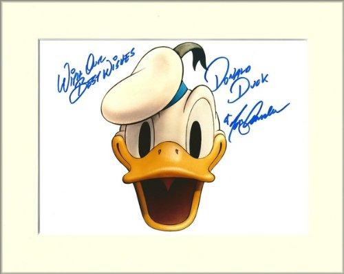 im Passepartout Tony Anselmo Donald Duck signierte Autogrammkarte