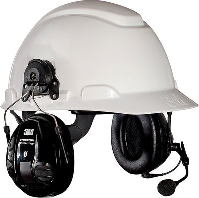 3M (MT16H21P3EWS5UM580) WS 100 Communications Headset MT16H21P3EWS5UM580, Hard Hat Attach