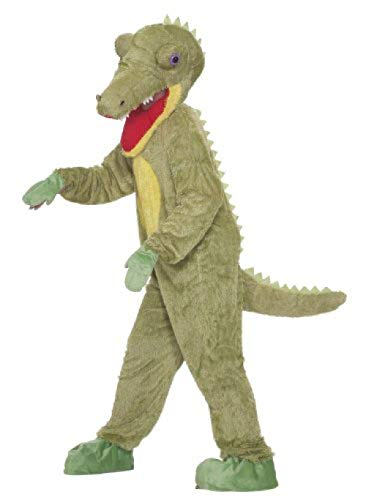 Forum Novelties Men's What A Croc Plush Crocodile Mascot Costume, Green, One Size -