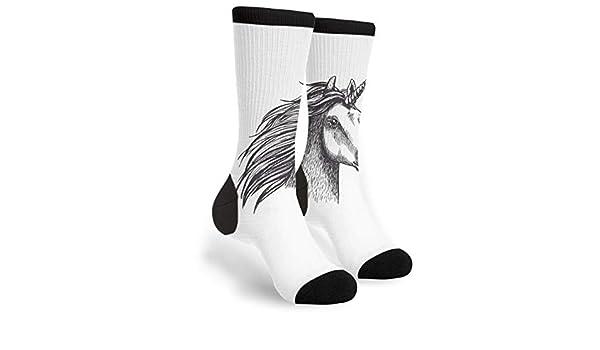 YISHOW Dark Horse Funny Crew Socks