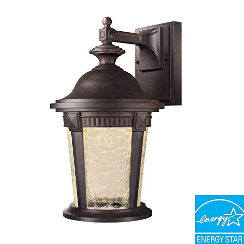 Basilica Collection Wall-mount Outdoor Mystic Bronze 9 In. Led Lantern - Basilica Outdoor Wall