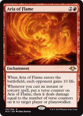 (Magic: The Gathering - Aria of Flame - Modern Horizons )