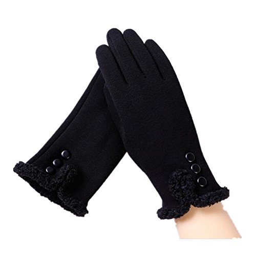 Women Thick Touch Screen Gloves Winter Windproof Warm Lined Smart Texting Gloves