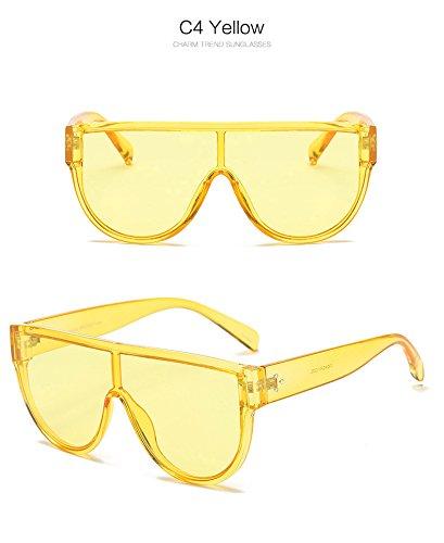siamois 4 Mode de soleil Mirror Fygrend Shades Lunettes Femmes Oculos Lunettes NO Femme Red style Marque Jaune 7 No Pink Street Rivets Lunette Violet xBYWFqWn