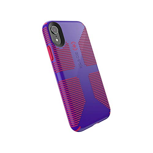 Speck Products CandyShell Grip iPhone XR Case, Ultraviolet Purple/Ruby Red (Spec Phone Cases)