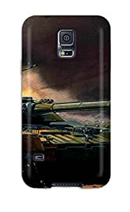 Fashion JVFimFL6274GUzFc Case Cover For Galaxy S5(tank Military Man Made Military)