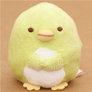 Peluche kawaii mini pingüino verde Sumikkogurashi