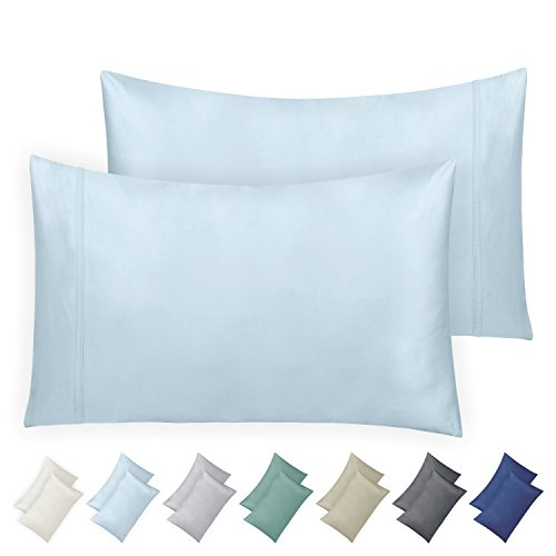 California Design Den 600 Thread Count Pillowcase Set of 2, 100% Long-Staple Combed Cotton, Breathable, Soft Sateen Weave Luxury Hotel Quality Pillow Cases (Standard, Spa) by California Design Den (Image #9)