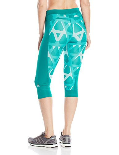 adidas Women's Techfit Capris, Equipment Green/Tri Print, X-Small by adidas (Image #2)