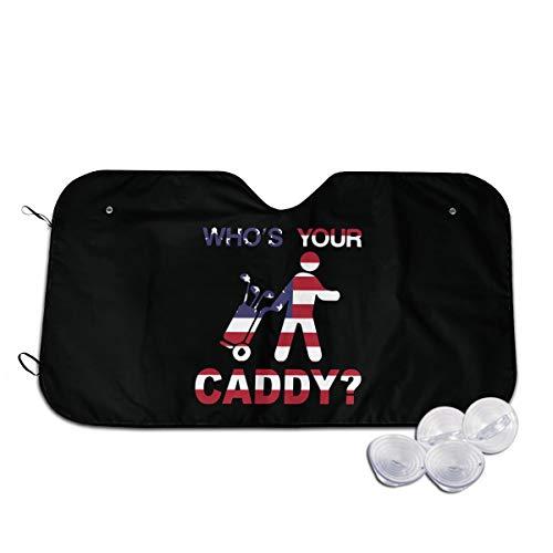PICWG746 Cool Whos Your Caddy Golf Golfers American Flag Window Shades UV Rays Sun Visor Protector S
