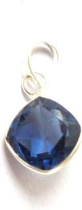 Colgante de tanzanita azul y lila, colgante de piedras cortadas, colgante de plata, pequeño colgante, regalo para usted