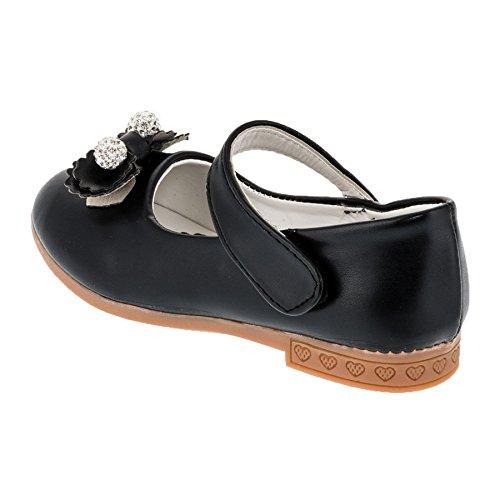 Festliche Mädchen Ballerina Schuhe in vielen Farben M278sw Schwarz