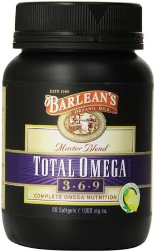 Barlean's Organic Oils Total Omega, Lemonade Flavor, 90 Softgels / 1000 mg Each, Bottle