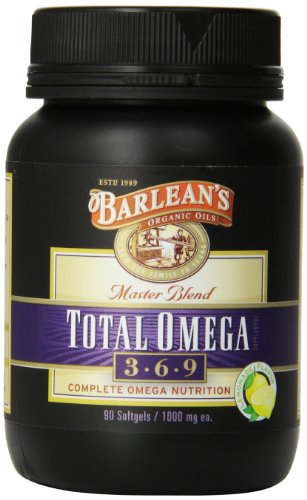 Barlean's Organic Oils Total Omega, Lemonade Flavor, 90 Softgels / 1000 mg each, Bottle (Omega 3 Total)
