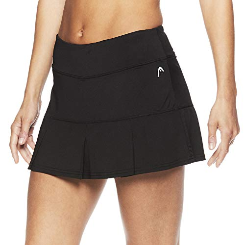 HEAD Women's Athletic Tennis Skort - Performance Training & Running Skirt - Black Match Up Skort, X-Large