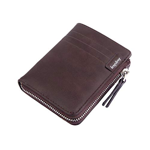 Wallet, XEDUO Men Wallets Coin Purse Clutch Hasp Retro Short Wallet Package Multi-card Holder (Brown)
