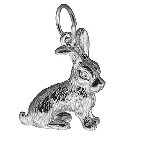 Sterling Silver Bunny Rabbit Charm - 6