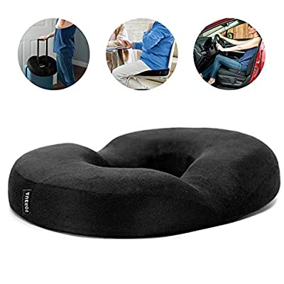 Forbua Donut Pillow for Tailbone Pain - Comfortably Provides Effective Relief for Hemorrhoid Pregnancy Coccyx Sciatica Pain - Premium Donut Cushion Won't Lose Shape, Coccyx Pillow Reduces Discomfort