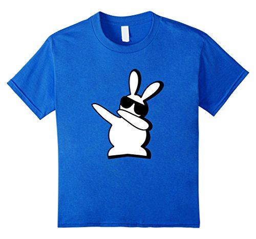 Kids Dance Bunny I Said a Hip Hop Little Easter Shirt Boys Kids 4 Royal Blue