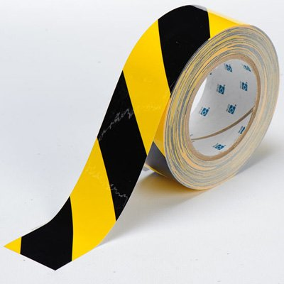 Brady ToughStripe Floor Marking Tape - Yellow and Black, Non-Abrasive Tape - 2