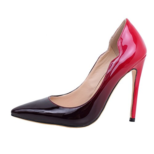 1c42a12a65e2b3 durable modeling High Stiletto Heels Calaier Gradient Comfort Ladies Pumps  Pointed Toe Fashion Shoes for Women