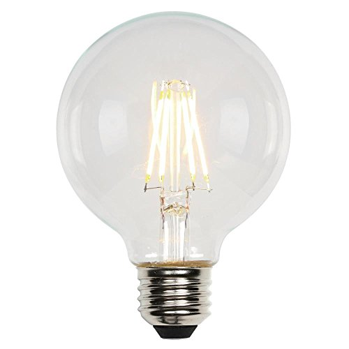 Westinghouse Lighting 3317300 60-Watt Equivalent G25 Dimmable Clear Filament LED Light Bulb with Medium Base