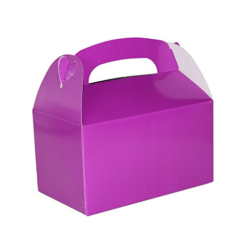 Purple Bright Color Treat Boxes (Pack of 12) - Play Kreative TM (Purple)