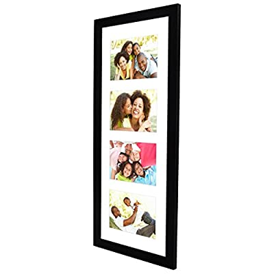 Americanflat Black Collage Picture Frame - Display 4x6 Photos - Panorama Frame