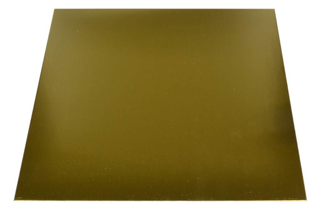 Sheet Brass Metal 18 Gauge 12 Inch Square by Grobet USA