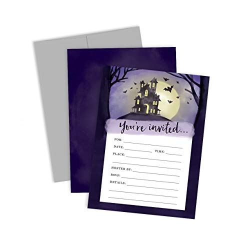 Palmer Street Press Spooky House Halloween Party Invitations