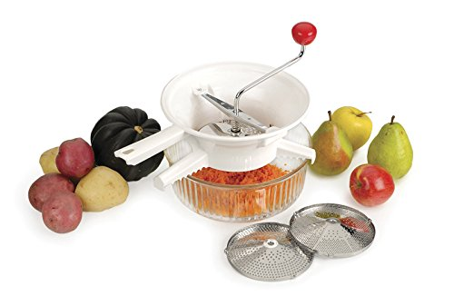 RSVP Classic Rotary Food Mill with Stainless Steel Interchangeable Disks Applesauce Food Mill