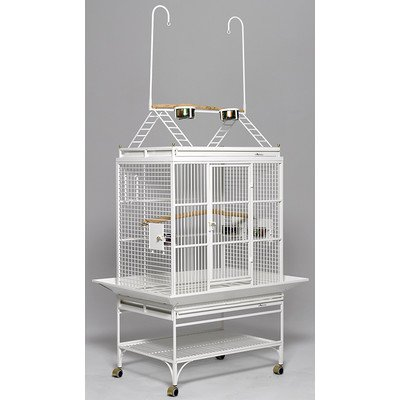 MidWest Homes for Pets Mediana Bird Cage, Pearl White Play Top