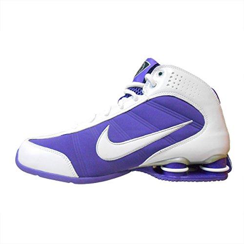 Nike Shox Vision Women's Basketball Shoes (6, White/White-Varsity Purple-Meta...