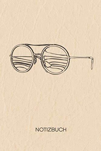 NOTIZBUCH: A5 Liniert Absolventen Schreibblock - Notizblock 120 Seiten 6x9 inch Tagebuch für Erwachsene - Bachelor-Party Notizheft Sonnenbrille ... Studentenparty - Matte Cover (German Edition) (Kleine Retro-sonnenbrille)