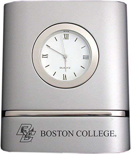 Boston College- Two-Toned Desk Clock -Silver