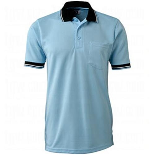 (CHAMPRO Umpire Polo Shirt; Adult Light Blue, X-Large)