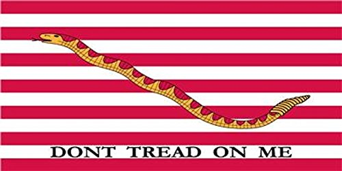 (First Navy Jack Don't Tread On Me Tea Party Decal Bumper Sticker)