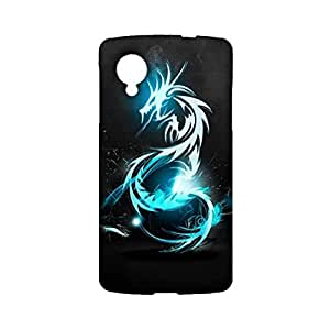 Google Nexus 5 Phone Case Hand Painted 3D Design Cover Case Dragon Chinese Elements Pattern Back Cover for Google Nexus 5