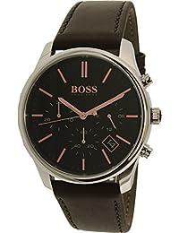 Hugo Boss Men's 1513448 Silver Leather Quartz Watch