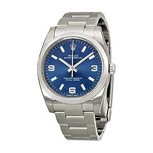 Best Epic Trends 41pqQ4Svz9L._SS300_ Rolex Airking Blue Arabic Dial Domed Bezel Mens Watch 114200BLASO [Watch] Rolex