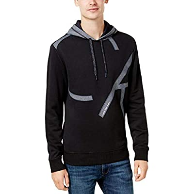 Calvin Klein Jeans Mens Mixed Media Chambray Applique Hoodie