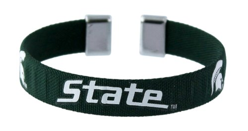 NCAA Michigan State Spartans Ribbon Band Bracelet