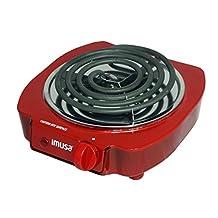 IMUSA USA GAU-80305R Electric Single Burner 1100-Watts, Red