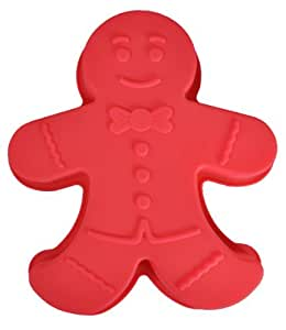 """Gingerbread Man Silicone Cake Mold Pan (5"""" x 4"""" x 1 1/2"""" deep) Assorted color"""