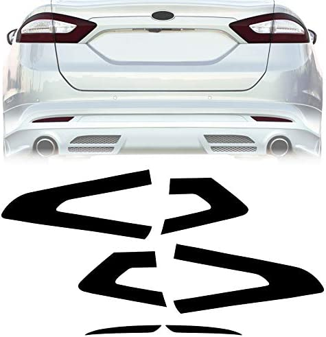 NDRUSH Blackout Taillight Vinyl Tint Film Precut Overlay Air-Release Tail Light Reflector Wrap Cover Compatible with Ford Fusion 2013 2014 2015 2016
