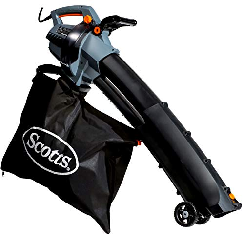 Scotts Outdoor Power Tools BVM23014S 14-Amp 3-in-1 Corded Electric Blower/Vac/Mulcher, Black/Grey ()