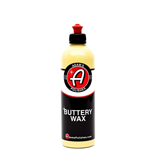 Adam's Buttery Car Wax 16oz - Easy On, Easy Off, Even in Direct Sunlight - Carnauba Wax Fortified with Advanced Polymers - Makes Waxing Your Car a Joy, Not a Chore