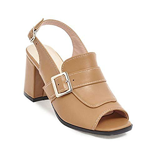 Fashion T Sandals Platform Toe Shoes Chunky Slingback JULY Cutout High Wedges Peep apricot Women Buckle for Pump Heel Dress Sgg5wr