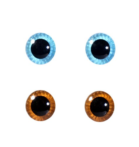 Eye Chip Selection for Pullip series Face & Body Set (Light Blue & Brown)) by (Halloween Contact Lenses)