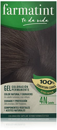 🥇 Farmatint Gel de Coloración Permanente 4N Castaño – 135 ml